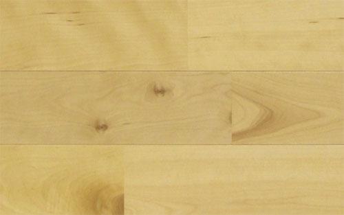 カバ桜無垢フローリング塗装UNI75幅小節あり商品写真