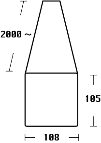 チーク製材品(角材)のサイズ図