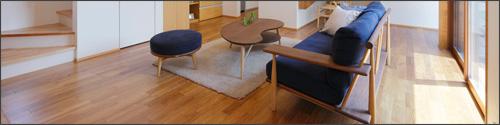 床暖房対応フローリング施工写真